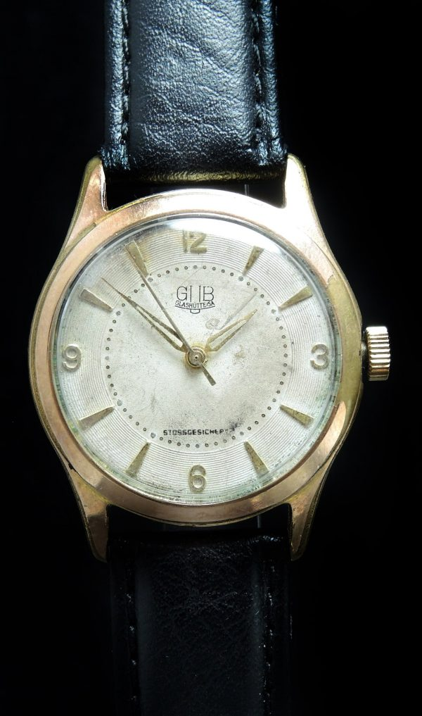 Vintage Glashütte Gub with Structured Dial