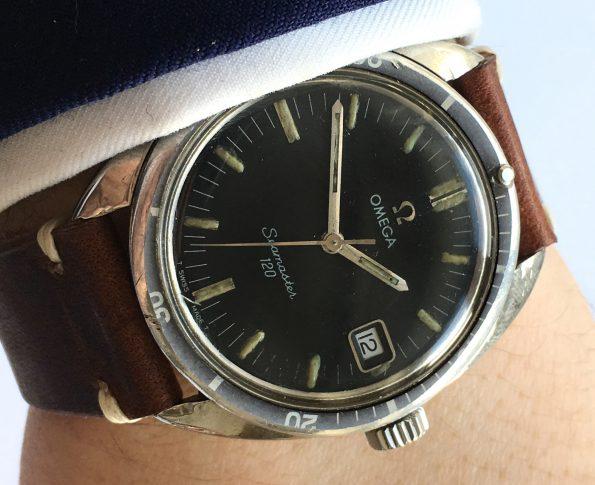 Servicierte Omega Seamaster 120 Vintage Datum Handaufzug