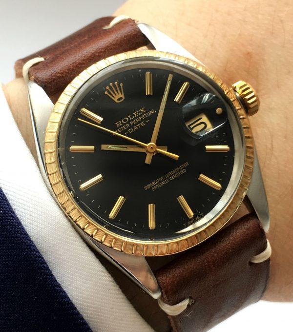 Unrefurbished Rolex Date black dial Automatic