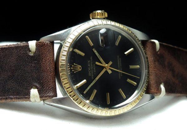 Unberührte Rolex Date schwarzes ZB Automatik