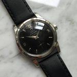Omega Seamaster Automatic kleine Sekunde restauriertes schwarzes Ziffernblatt