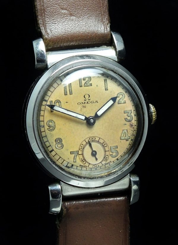 Amazing Omega Scarab Vintage Watch with Radium Hands