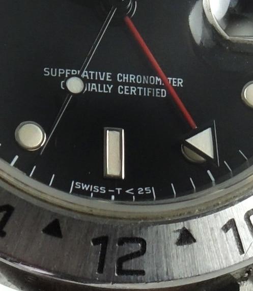 Tritium Rail Rolex Explorer 2 II Automatik 16570 verklebt