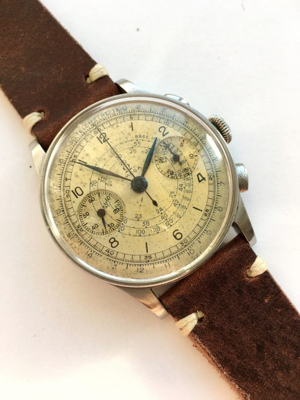 Amazing Omega 33.3 Vintage Chronograph Original Two Tone