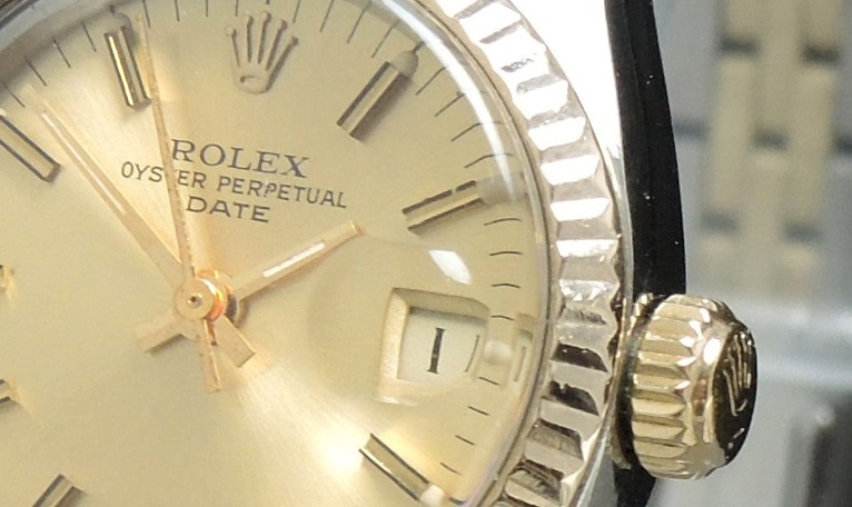 perfekte rolex datejust damen automatik stahl gold vintage portfolio. Black Bedroom Furniture Sets. Home Design Ideas