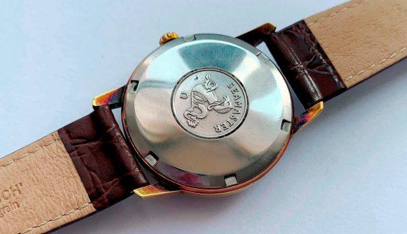 Refurbished Gold Plated Omega Seamaster Automatic Vintage Black Dial