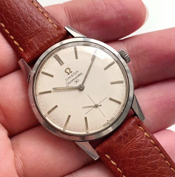 Top Omega Seamaster 30 in Steel never polished 35mm