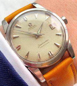 [:en]Vintage Omega Seamaster Automatic Calendar Honeycomb[:de]Vintage Omega Seamaster Automatik Calendar Honeycomb[:]