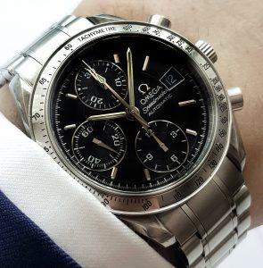 Omega Speedmaster Automatik Reduced black dial