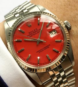 Serviced Rolex Datejust Automatic red dial 36mm
