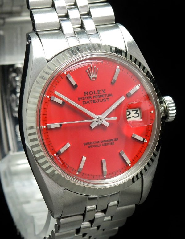 Servicierte Rolex Datejust Automatik rotes ZB