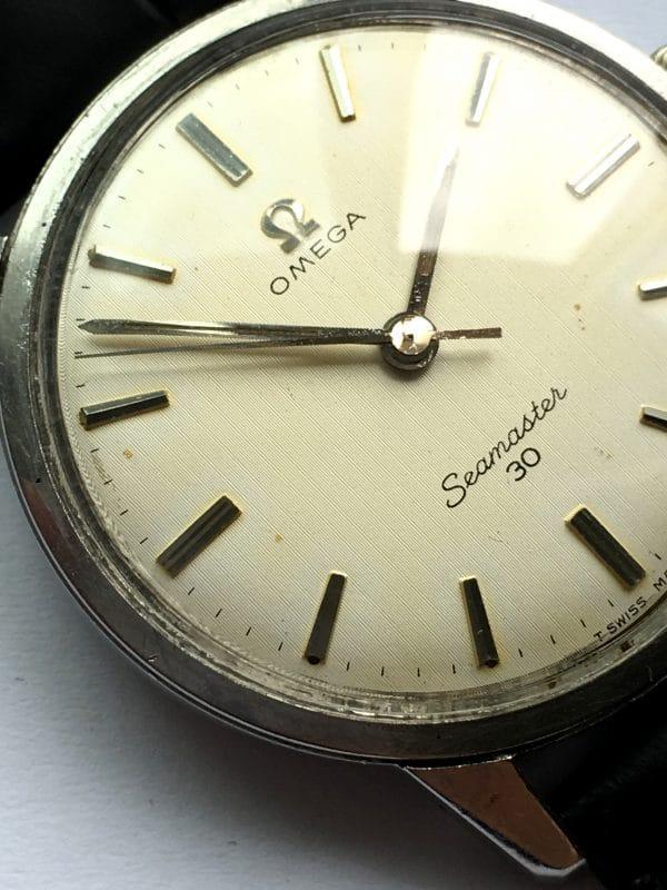 Vintage Omega Seamaster 30 Steel Linen Dial