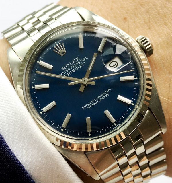 Serviced Rolex Datejust Automatic blue dial 36mm