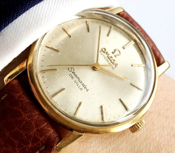 Solid Gold Ladies Omega Seamaster Deville Automatic