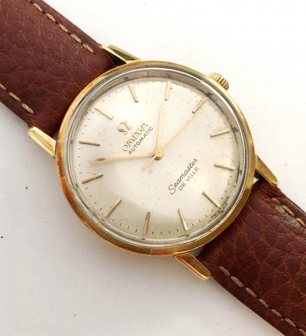 Solid Gold Ladies Omega Seamaster De Ville Automatic