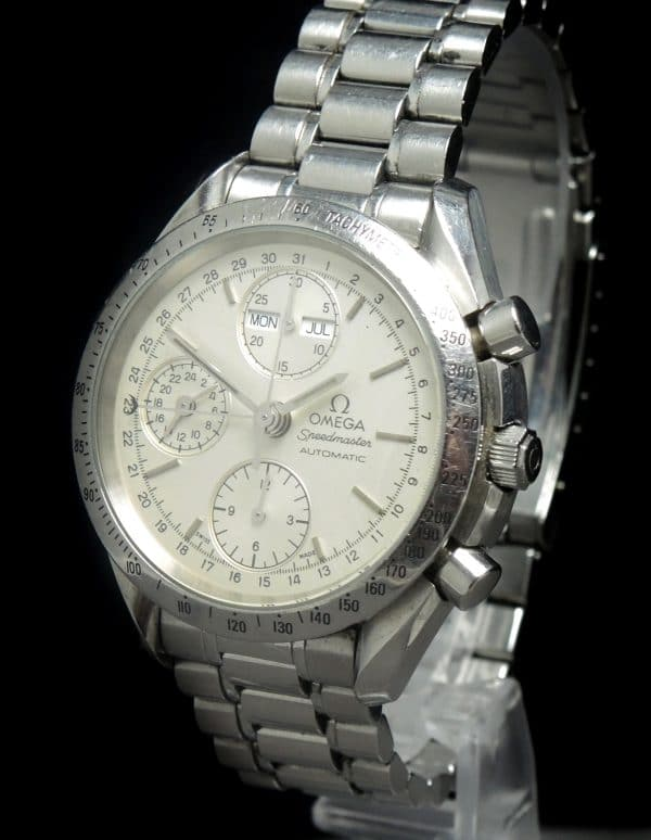 Omega Speedmaster Automatic Triple Date white dial