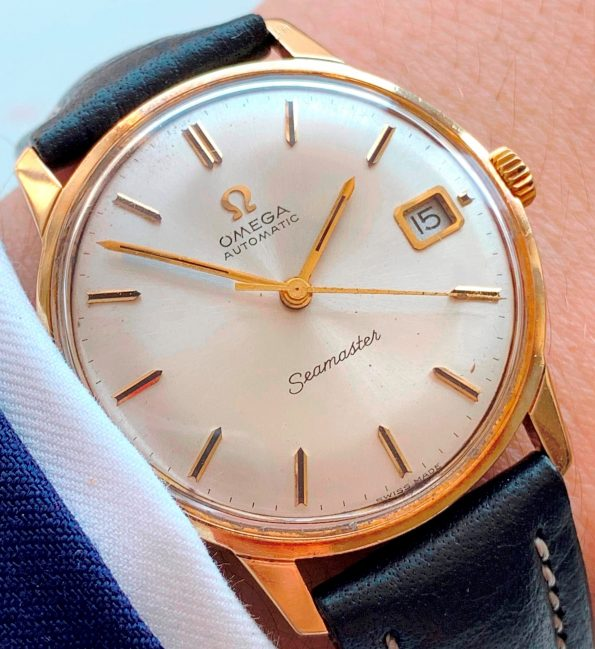 Omega Seamaster Automatic Solid 14k Yellow Gold Vintage