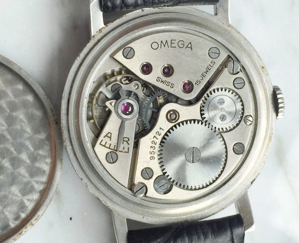 White 30t2 Omega Oversize Jumbo Vintage Two Tone Bullseye Dial 38mm