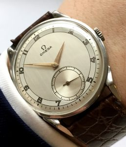 Perfect Omega Oversize Jumbo 38mm Steel Two Tone Dial 1952