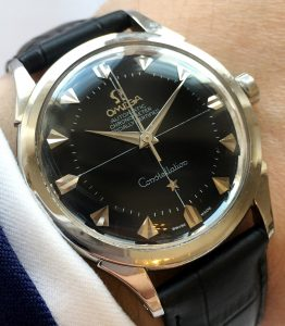 Omega Constellation Automatic Pie Pan Black Dial SHARK TOOTH INDICES