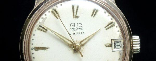 Vintage Glashütte GUB pink gold plated
