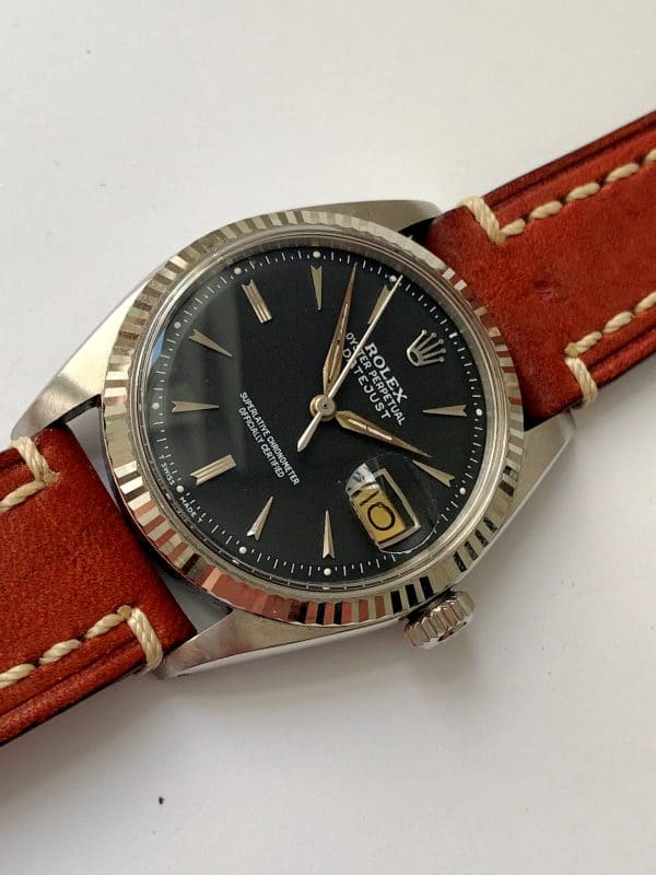 1960ties Rolex Datejust Automatic black dial 1601 Vintage