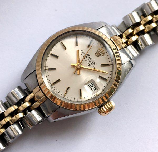 Ladies Tritium Dial Rolex Oyster Perpetual Date