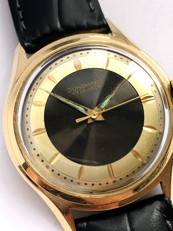 Yellow Gold Plated Junghans Two Tone Bulleye