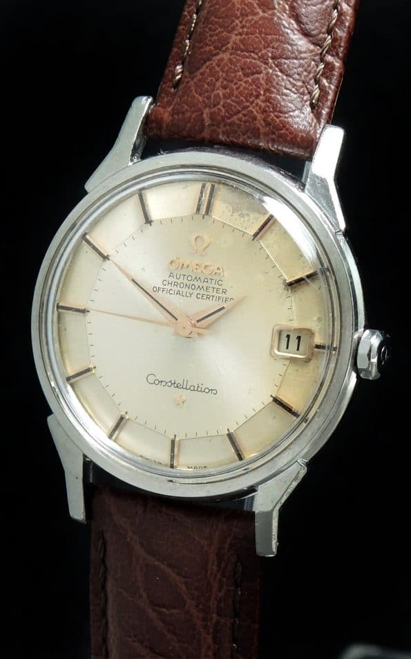 Salmon Dial Pie Pan Omega Constellation
