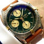 gm321 breitling chronomat green dial (1)