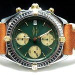 gm321 breitling chronomat green dial (2)