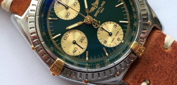 Serviced Breitling Chronomat Vintage Automatic green dial