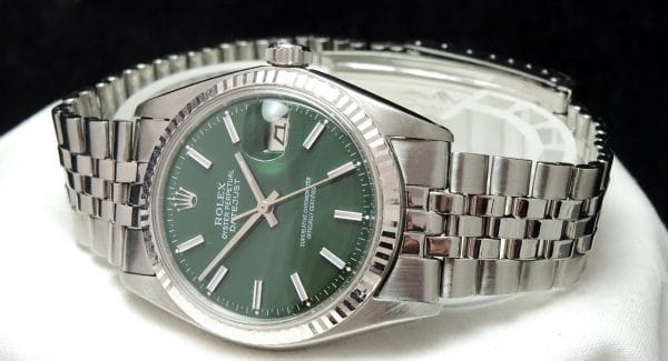 Refurbished Rolex Datejust Automatic green dial