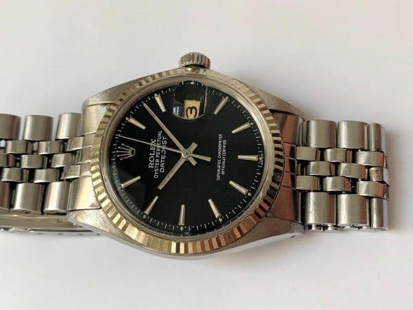 Serviced Rolex Datejust Automatic black dial 1601 Vintage