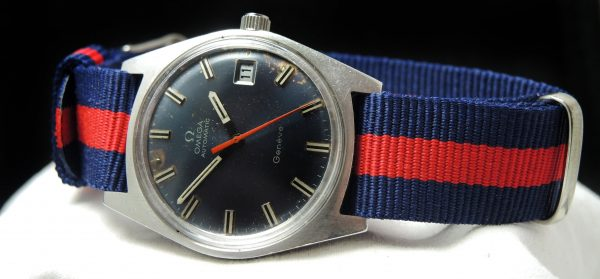 Vintage Omega Geneve Automatic blue dial
