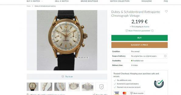 Dubey & Schaldenbrand Index Mobile Ratrappante Chronograph