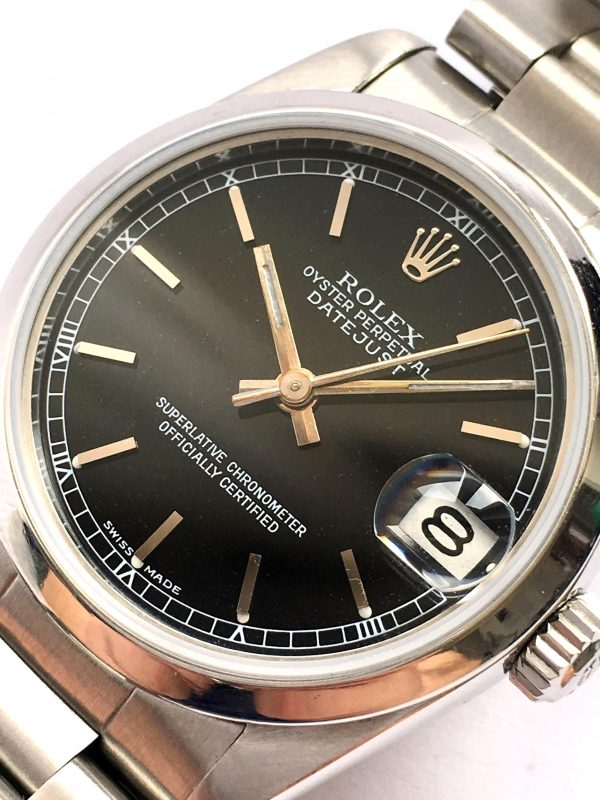 Black Dial Ladies Rolex Datejust in Outstanding Condition