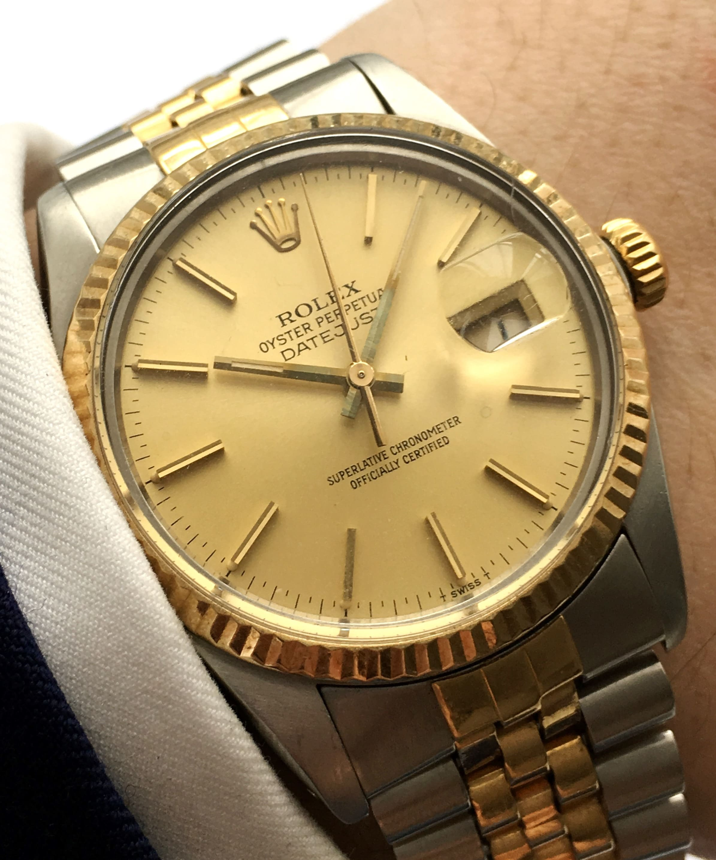 rolex datejust 16013 vintage stahl gold jubilee band. Black Bedroom Furniture Sets. Home Design Ideas