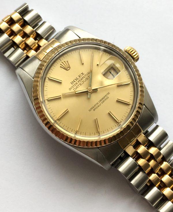 Rolex Datejust 16013 Vintage Steel Gold Jubilee Strap