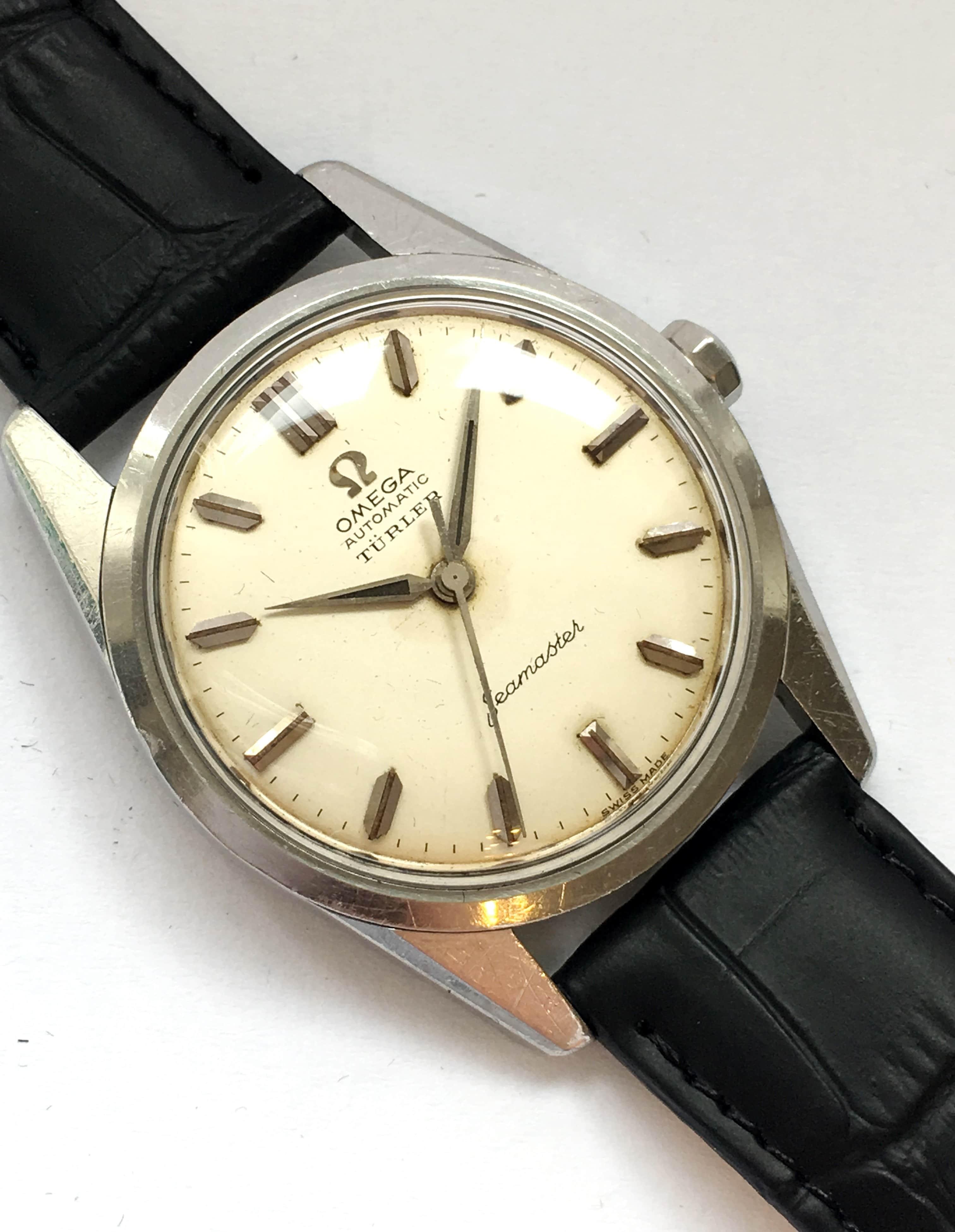 Rare Türler Signed Vintage Omega Seamaster
