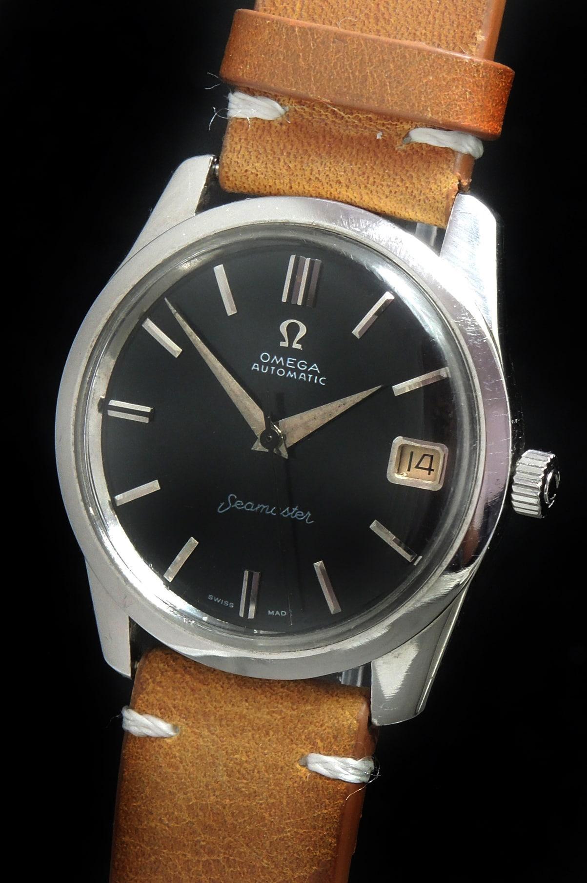 Vintage Omega Seamaster Automatic Black Refurbished Dial