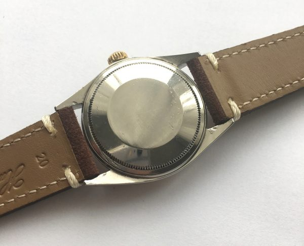 Rolex Datejust 1601 Vintage Steel Gold Vintage Ecru Strap