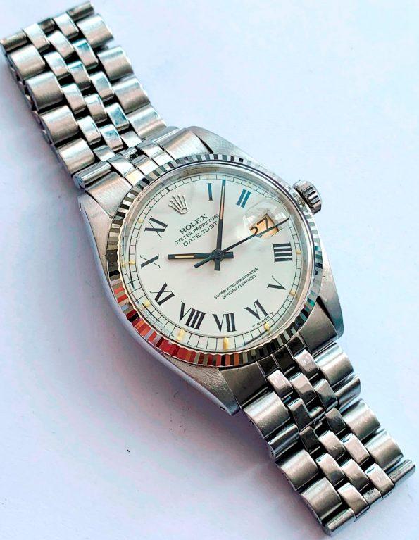 Vintage Rolex Datejust 1601 Roman Buckley Dial