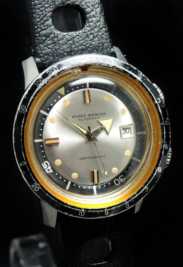 Broad Arrow Nivada Grenchen Depthomatic Diver Watch Vintage