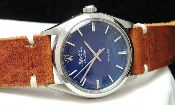 Serviced Rolex Air King Automatic wonderful blue dial