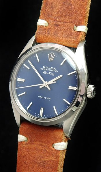 [:en]Serviced Rolex Air King Automatic wonderful blue dial[:de]Servicierte Rolex Air King Automatik königsblaues ZB[:]