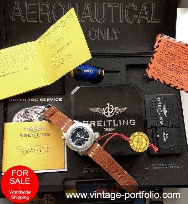 Breitling Emergency Titanium Full Set with Briefcase