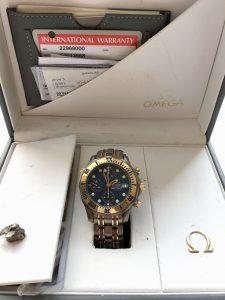 Rare Titanium Rose Gold Omega SMP 300m Diver Chronograph