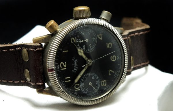 Professionally Serviced Vintage 1944 Military Style Hanhart Chronograph