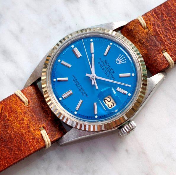 Vintage Rolex Datejust Ref 1601 Blaues Ziffernblatt
